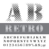 Ab retro font Royalty Free Stock Images