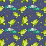 Żaba i komarnicy Zdjęcia Royalty Free