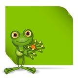 Żaba i zieleni tło ilustracji
