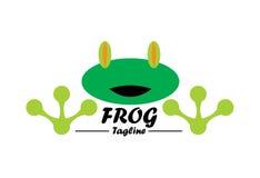Żaba logo Zdjęcia Stock