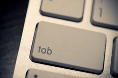 Aba no teclado fotografia de stock royalty free
