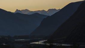 ABA-Präfektur in Sichuan-Provinz, Berg mit vier Mädchen Stockfoto
