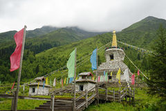 Aba prefecture in sichuan province, four girls mountain Stock Image