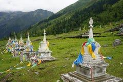 Aba-prefektur i det sichuan landskapet, berg för fyra flickor Arkivfoton