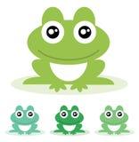 Żaba. Wektorowa ilustracja. Zdjęcia Royalty Free