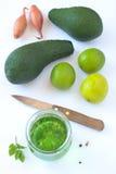 Abacate, cal e bebida verde imagem de stock royalty free