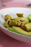 abacate e azeitonas Imagem de Stock Royalty Free