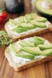 Abacate e queijo creme Fotos de Stock