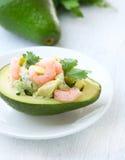 Abacate e salada dos camarões Imagens de Stock Royalty Free