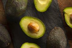 Abacates verdes crus orgânicos Fotografia de Stock