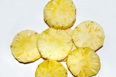 Abacaxi com borrão fotografia de stock
