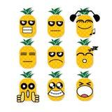 Abacaxi da cara do ícone Imagem de Stock Royalty Free