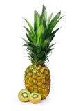 Abacaxi e Kiwifruit Imagens de Stock