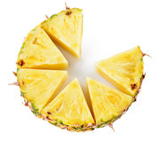 Abacaxi Fruta fresca isolada no branco imagem de stock