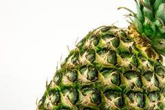 Abacaxi isolado no fundo branco Fruto do verão Fotografia de Stock