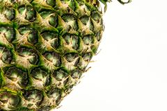 Abacaxi isolado no fundo branco Fruto do verão Foto de Stock