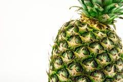 Abacaxi isolado no fundo branco Fruto do verão Imagens de Stock