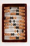 Abaco di legno d'annata isolato Fotografia Stock