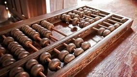 Abaco di legno d'annata di prospettiva vecchio per il conteggio ed il calcolo Immagini Stock Libere da Diritti