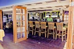 Abaco旅馆酒吧&格栅Elbo岩礁, Abaco,巴哈马 库存照片