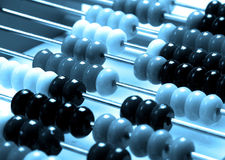 Abacus. A abacus in a blue tone Stock Photo