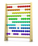 Abacus. 3d rendering/illustration of an abacus with rainbow colored beads Royalty Free Stock Photography