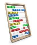 Abacus. Colorful wooden abacus; 3D rendered image Royalty Free Stock Photography