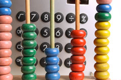 Abacus. For counting and calculating Royalty Free Stock Photo