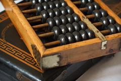 Abacus. Close up of a Chinese abacus Royalty Free Stock Photos