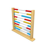 Abacus. 3d rendered image with abacus on white Stock Image