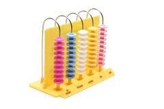 Abacus. Drop out on white background Stock Images