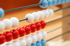 Abacus. Close-up view of a colorful educational toy: abacus Stock Image