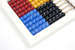 Abacus. A simple white abacus close up on white background Stock Photography