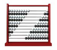 Abacus. 3d render of an abacus with black and white balls royalty free illustration