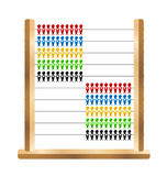 Abacus. Wooden and plastic school abacus with swallow shaped beads Royalty Free Stock Photos