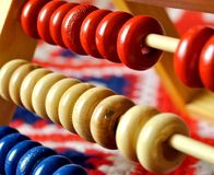 Abacus. Close-up view of a colorful abacus Royalty Free Stock Images