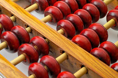 Abacus. Chinese abacus macro closeup showing both rows Royalty Free Stock Photography