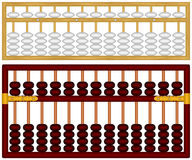 Abacus. Layered vector illustration of isolated Chinese Abacus stock illustration