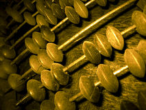 Abacus. Ancient cost calculator used in stores very long time ago Royalty Free Stock Photography
