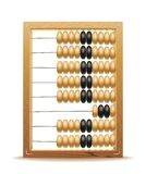 Abacus. Realistic illustration of old abacus long before the calculator Stock Images