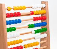 Abacus. Close view of an abacus with colored beads Stock Image