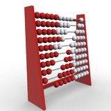 Abacus. 3d rendering illustration of an abacus. A clipping path is included for easy editing Royalty Free Stock Photos