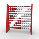 Abacus. 3d rendering illustration of an abacus. A clipping path is included for easy editing Royalty Free Stock Photography