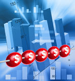 Abacus. A red abacus financial illustration Royalty Free Stock Photography