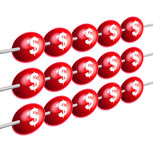 Abacus. A red abacus financial illustration Royalty Free Stock Photo