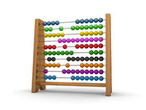 Abacus 3d. Wooden abacus isolated on a white background (3d render Royalty Free Stock Photos