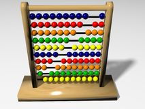 Abacus in 3D. To count Royalty Free Stock Photo