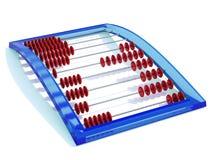 Abacus. Blue abacus isolated on white Stock Image