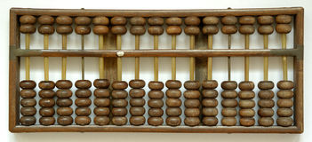 Abacus. Wooden antique brown in color abacus Stock Image