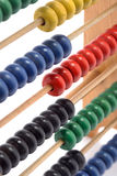 Abacus. Closeup of colourfull wooden abacus with selective focus Stock Photography